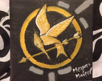 The Hunger Games- Mockingjay Pin Painting
