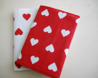 Gift ideas for lovers, couple notebooks with hearts.