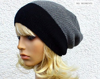 COCO Beanie Hat Black/medium grey Merino