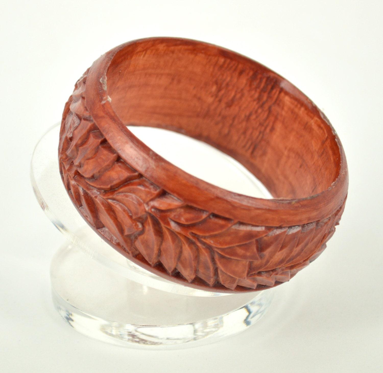 wood carving carved wooden bangle bracelet by vyatsheslavovna