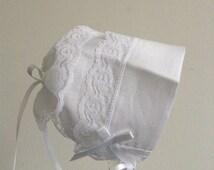 Irish linen Magic Hanky Bonnet