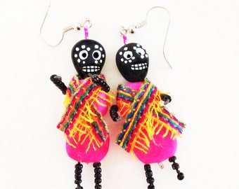 mexican day of the dead earrings