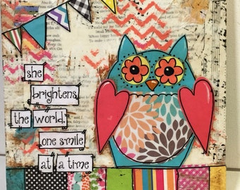 Owl Decor | She brightens the World