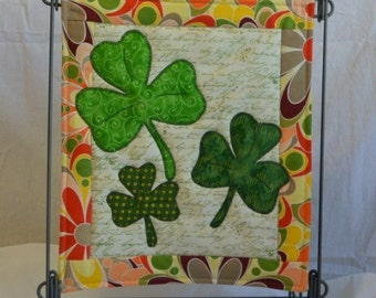 Lookin' For Luck, St. Patrick's Day Holiday Mini Quilt Pattern  - PATTERN