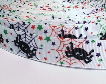 "5 yards of 7/8 inch ""spider"" grosgrain ribbon"