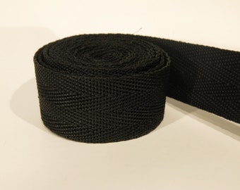 3 yards of 1 inch / 25mm black webbing, strap (WB2)