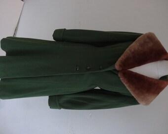 50's Coat. Olive Green.