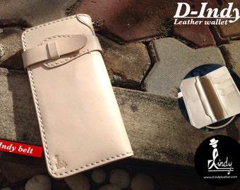Leather Wallet Indy belt (Nature)