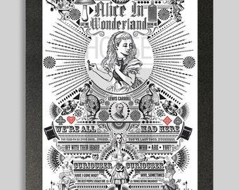Ornate Alice in Wonderland Poster
