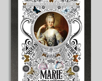 Ornate Marie Antoinette Poster