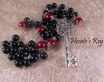 Hecate's Key Witches Rosary, Pagan Meditation Necklace