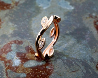 """The """"Ivy Ring"""" in Rose Gold and Diamonds,  READY TO SHIP!"""