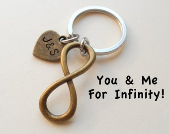 Wedding Anniversary Gift Ideas For Old Couples : bronze infinity symbol keychain gift couples anniversary gift for ...