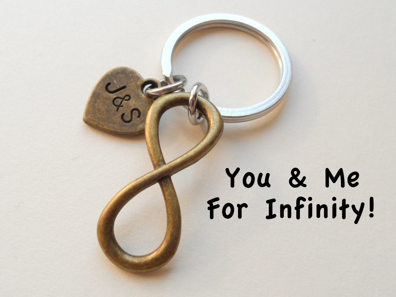 Wedding Gifts For 8 Year Anniversary : Bronze Infinity Symbol Keychain Gift Couples Anniversary