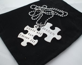 "Australian Seller - Not Trademarked in Australia- ""until all the pieces fit"" Autism Awareness inspired Necklace"