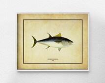 Fish Art, Fish Decor, Tuna Print, Beach Decor, Marine Life Decor, Ocean Art, Bathroom Art, Nautical Decor, Sea Life Art, Coastal Decor, 0296