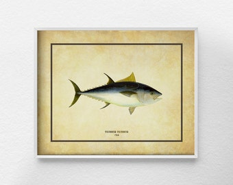 Fish Art, Fish Decor, Tuna Print, Beach Decor, Marine Life Decor, Ocean Art, Bathroom Art, Nautical Decor, Sea Life Art, Coastal Decor, 0296
