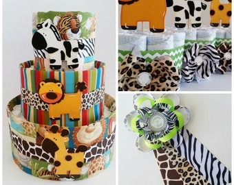 safari baby shower decor jungle themed diaper cake safari mommy to be corsage