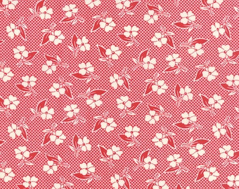 Two Toned Floral in Red from Fresh Air by American Jane for Moda , Half Yard, 100% cotton quilt weight fabric, 21675 11