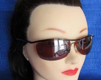 Sale Unisex Bronze Wire Sunglasses with Copper Lens