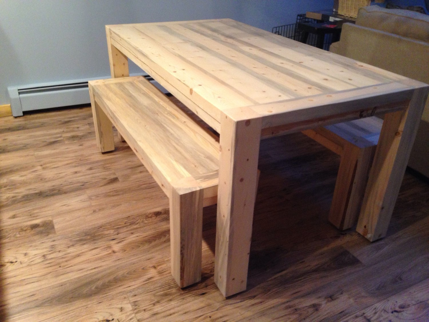 Custom beetle kill kitchen table 57 long x by coloradotablesllc - Custom kitchen table ...