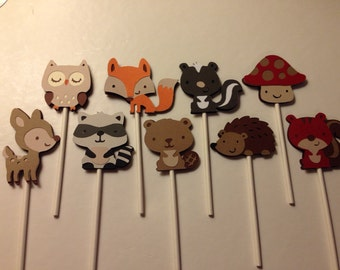 Woodland Cupcake Toppers
