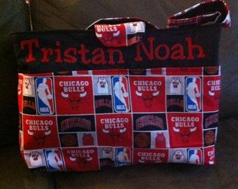 Chicago Bulls diaper bag