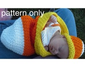 Candy Corn Photo Prop, PDF Crochet Pattern - English Only
