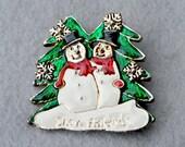 Snow Friends Vintage Pin/Pendant