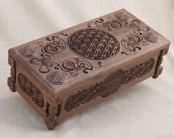 Flower of Life Collectors Chest: Gift  Box, Handcrafted, Customized