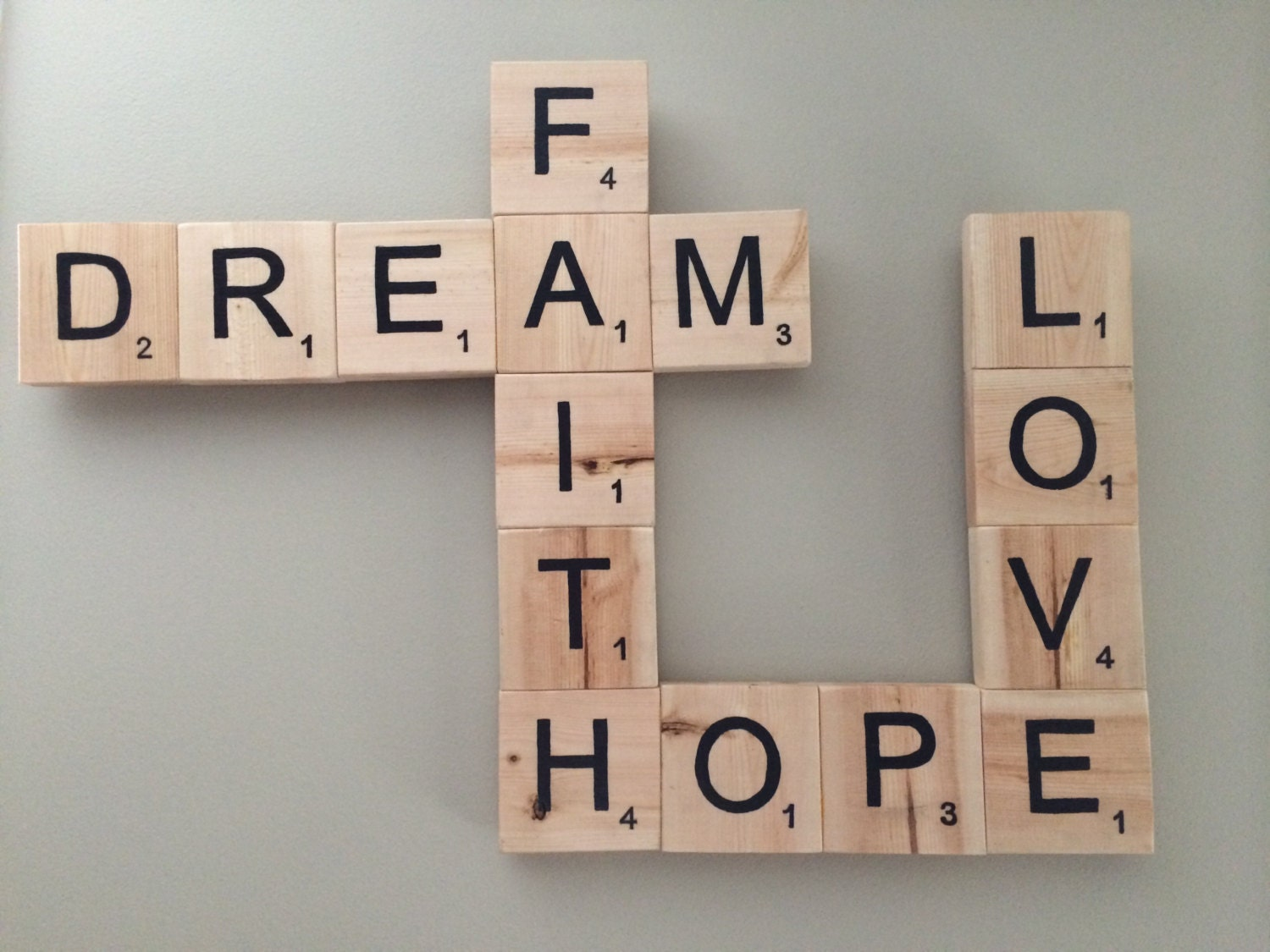 Custom Order Scrabble Pieces Only Example