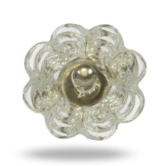 Flower decorative furniture knob for a kitchen bedroom or for Knobs for bureau