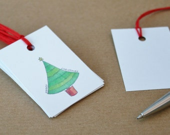 10 Christmas Gift Tags - Pud/Stag/Tree/Do Not Open Until/Merry Christmas