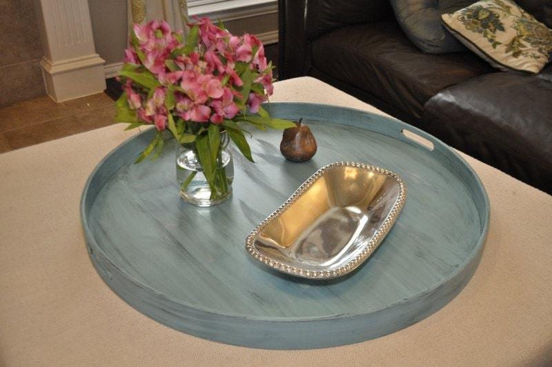 30 32 Or 36 Round Large Ottoman Tray
