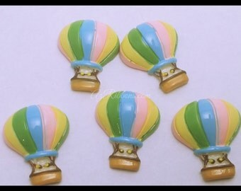 10 PC Colorful Hot Air Balloon Ride Sky Resin Flatbacks AZ338