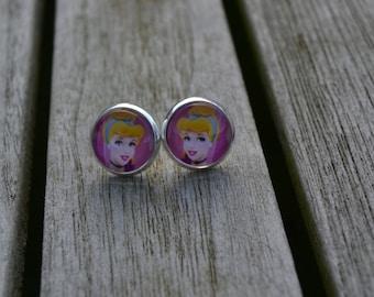 Disney Princess Cinderella sleeping beauty earrings