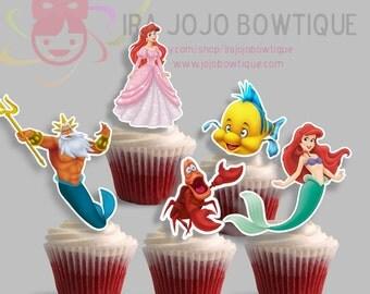 Cupcake Toppers Princess Mermaid