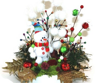 Christmas decorations and gifts si lk flower arrangement holiday