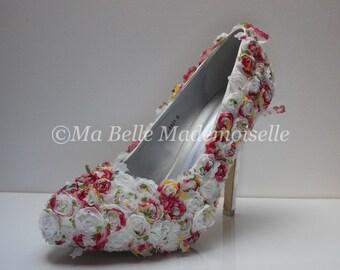 Rose Lace Bridal Shoe's