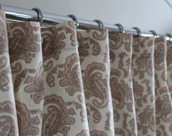 """Soft Paisley Extra Wide Shower Curtain 72""""x108"""""""