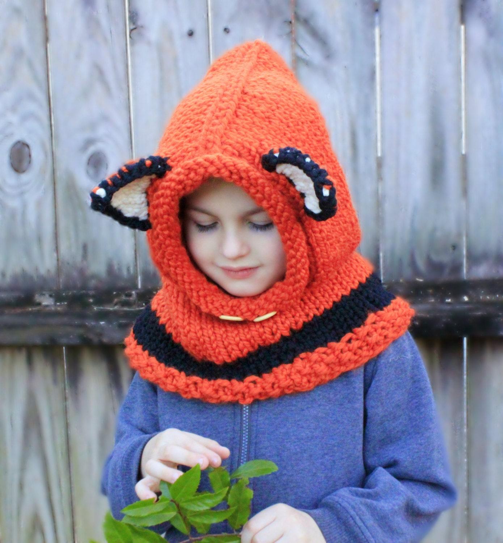 Fox hat.Knitting Failynn Fox Cowl. Fox hat.size:6-10y.old