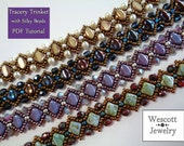 Beadweaving Pattern for Tracery Trinket with Silky Beads, Japanese Seed Beads, and Crystals, Fire-Polished Czech Crystal or Pearl Beads