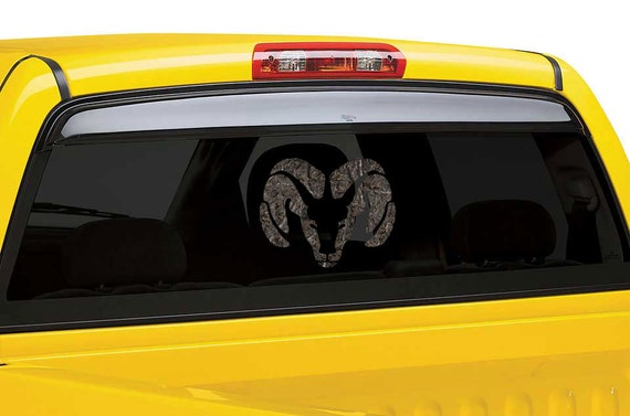 Items Similar To Dodge Ram Camo Window Decal Decal On Etsy