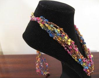 Trellis Necklace / Crochet Necklace Item No. B101