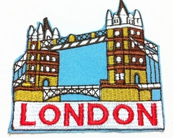 London Bridge (7.5 x 7.5 cm) Full Embroidered Applique Iron on Patch (X)