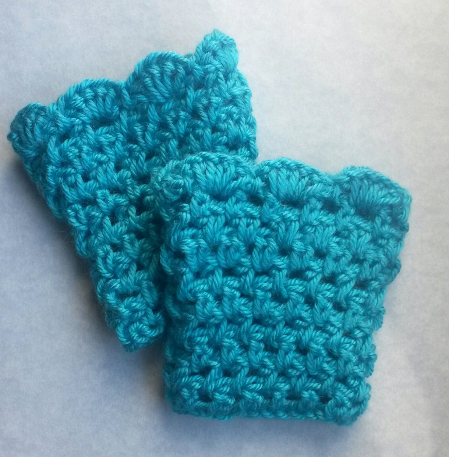 Teal Crochet Boot cuffs child boot cuff child boot toppers