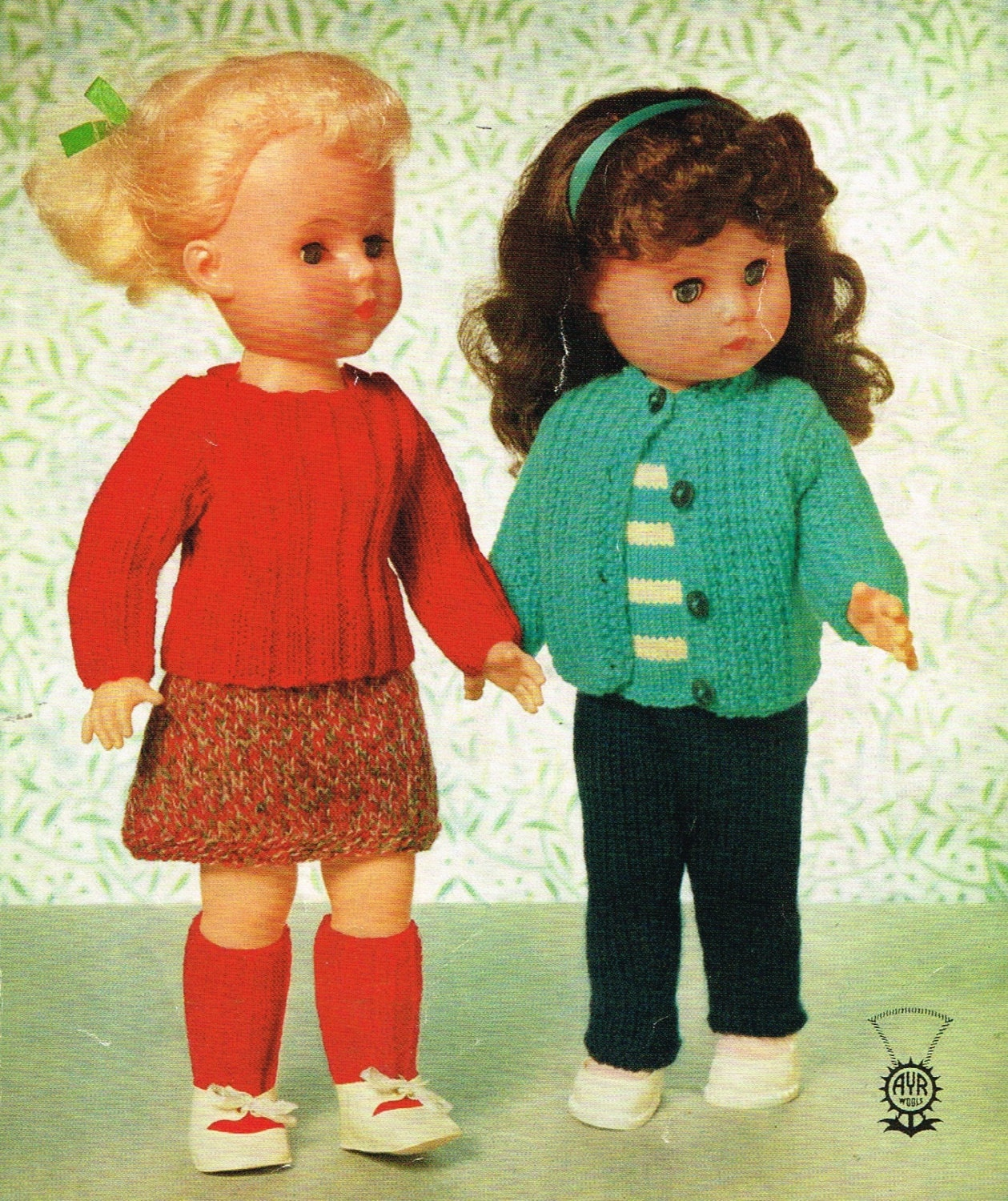 Vintage Knitting Patterns Dolls Clothes : 16 inch Dolls Clothes Knitting and crochet pattern. Vintage