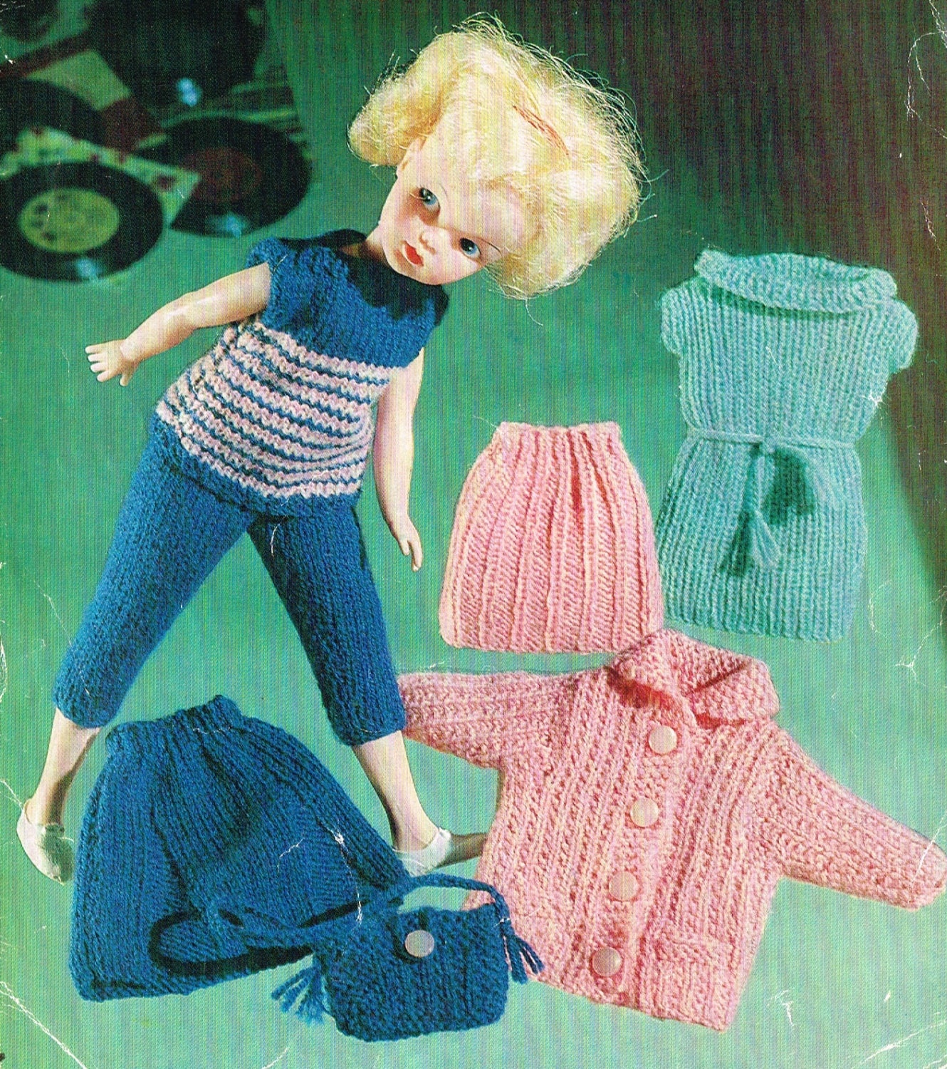 Knitting Clothes For Barbie Dolls : Dolls clothes knitting pattern barbie or sindy