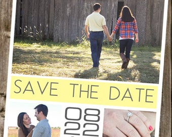 Save The Dates -  3 Photos - Boxes