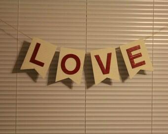 Love Photo Prop Banner